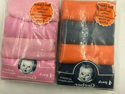 four pack pre folded cloth diapers