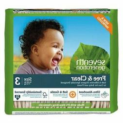 Seventh Generation Free & Clear Baby Diapers, Size 3, 124 Di