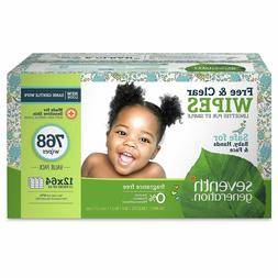 Seventh Generation Free & Clear Baby Wipes, Unscented