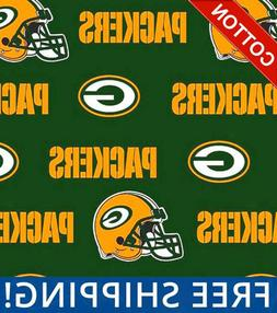 """Green Bay Packers NFL Cotton Fabric - 60"""" Wide - Style# 6317"""