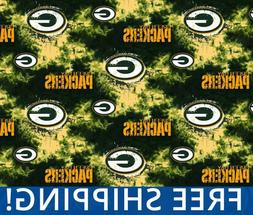 "Green Bay Packers NFL Fleece Fabric - 60"" Wide - Style# 6349"