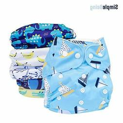 SimplyLife Home Reusable Baby Cloth Diapers, Washable Adjust