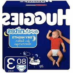 HUGGIES OverNites Diapers, Size 3, 80 ct., Overnight Diapers