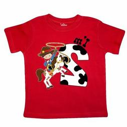Inktastic I'm Two-cowboy Riding Horse Birthday Toddler T-Shi