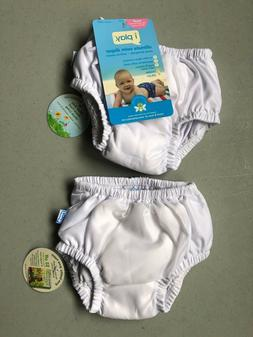 i play. Baby Pull-up Reusable Absorbent Swim Diaper , White,