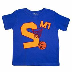 Inktastic Im Two! Second Birthday Basketball Toddler T-Shirt