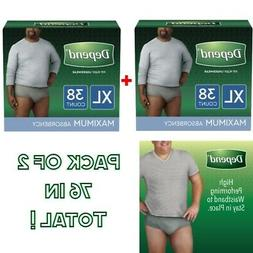 Depend Incontinence Pants Underwear For Men Adult Pull Up Di