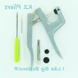 K2 Plastic Snap Hand Press Pliers/Awl for KAM Snaps Cloth Di