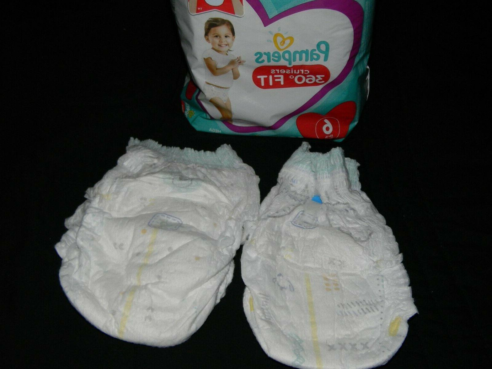 4 Pampers cruisers fit size to fit waist