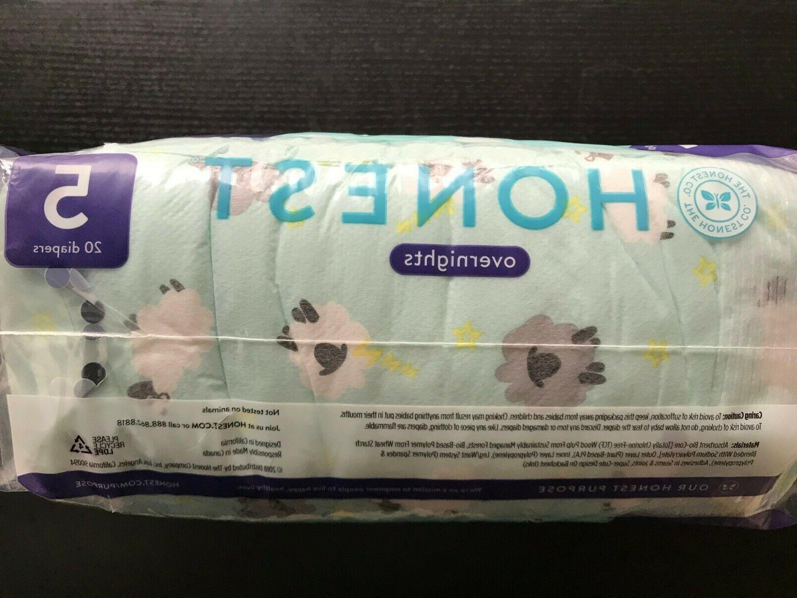 4 OF OVERNIGHT DIAPERS SIZE 20