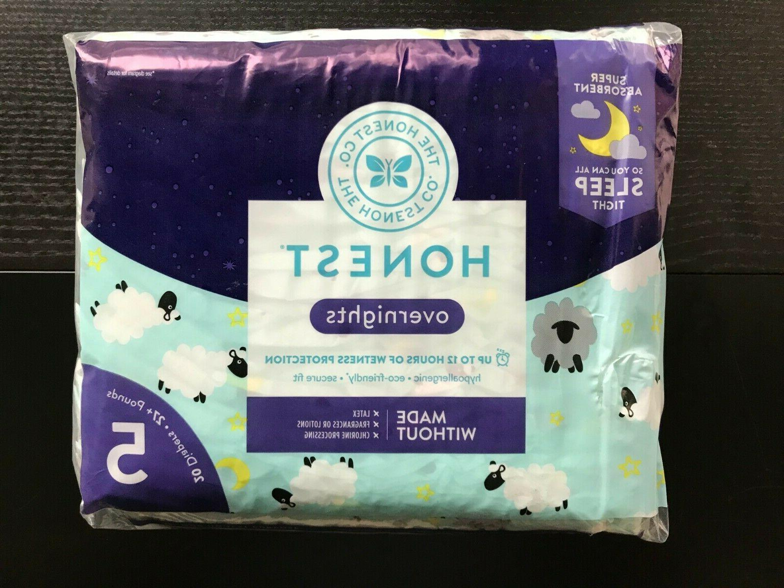 4 packs of honest overnight diapers size