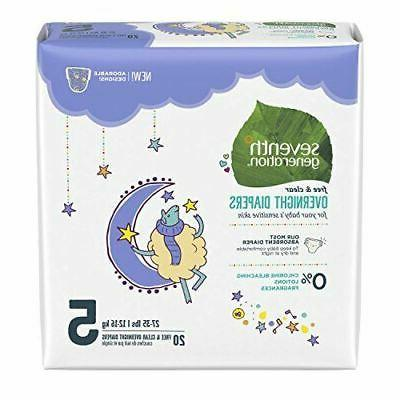Seventh Generation 7 Gen Diapers Overnite S5 2000 ct
