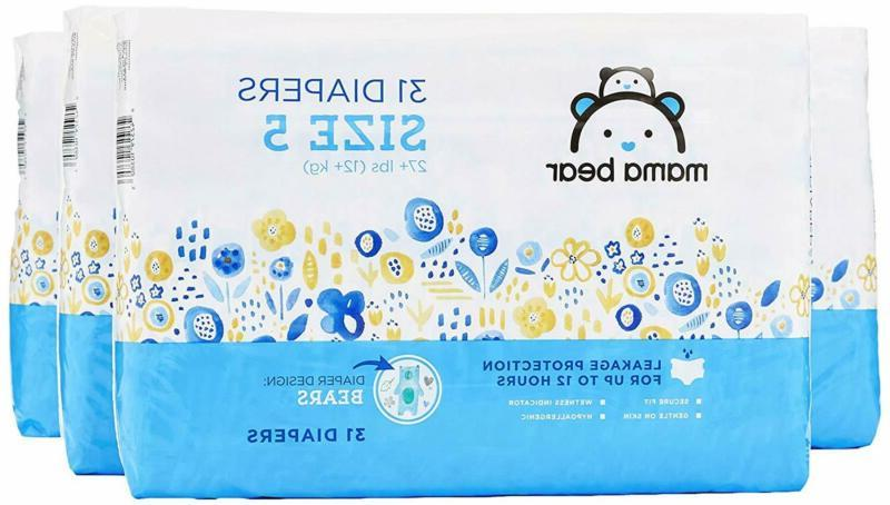Amazon Brand - Mama Bear Diapers Size 1-6 Newborn and up