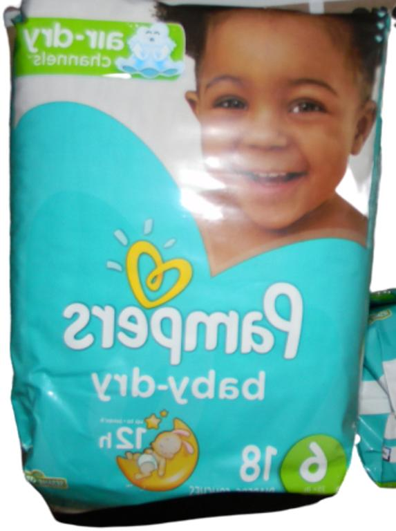 Pampers Baby-Dry 6 18 Count, packages
