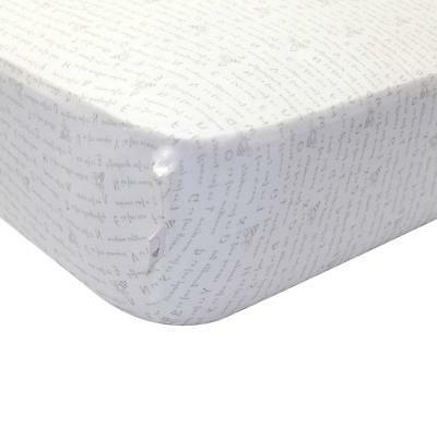 Burt's Bees Baby - Fitted Crib Sheet, Alphabet Bee, 100% Org
