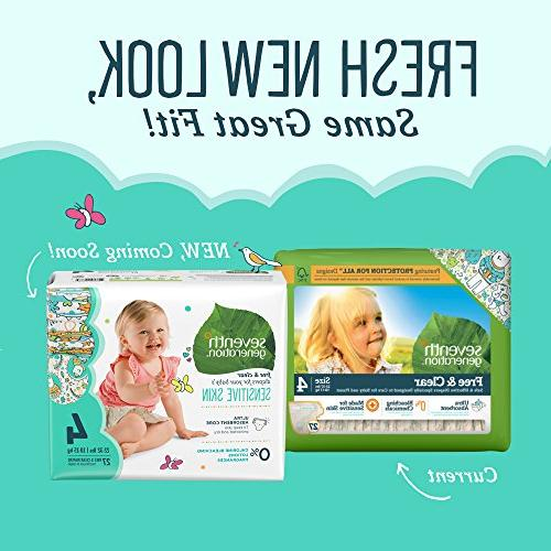 Seventh Generation & Clear Diapers, Pack, Prints, Stage 3, lbs, ea
