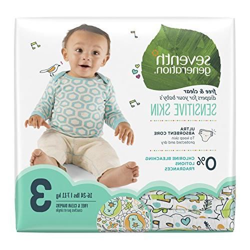 Seventh Generation Free Clear Diapers, Value lbs, ea