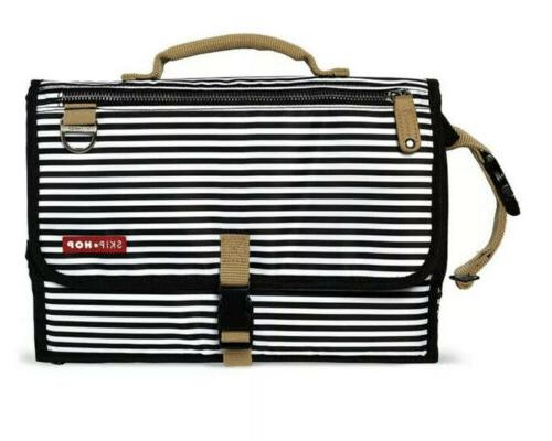 diaper changing messenger style fold out bag