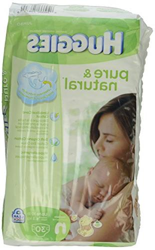 Huggies and Natural Diapers, 30 Count