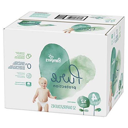 Pampers Diapers, Hypoallergenic Free Protection, Size 4, 52 Count, Super