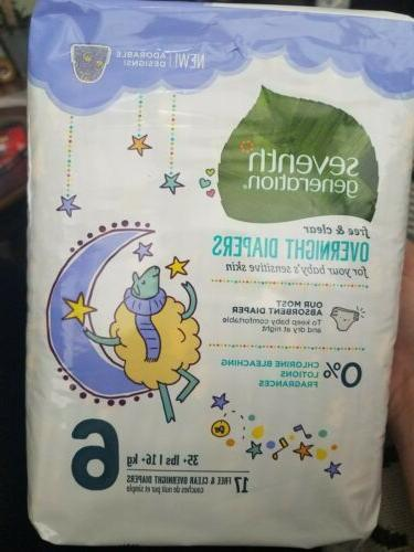 free and clear overnight diapers size 6
