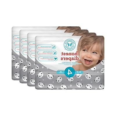 Honest Baby Diapers, Pandas, Size 4, 116 Count