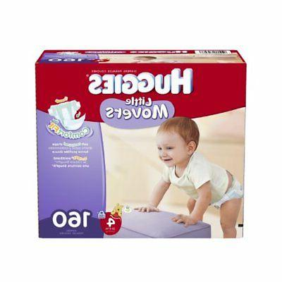 Huggies Little Movers Diapers Economy Plus, Size 4, 160 Coun