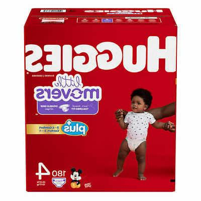 Huggies® Little Movers Plus Diapers Size: 4; 180  Baby Diap