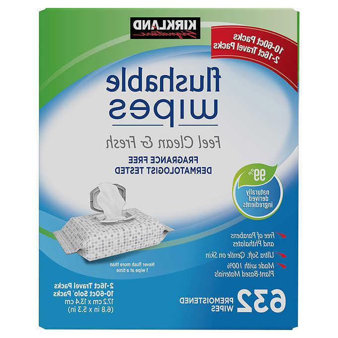 moist flushable wipes 632 count new