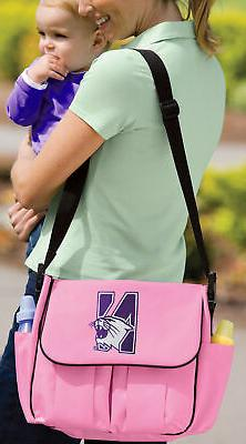 Northwestern Diaper Bag Official NCAA Logo BEST Shower Gifts