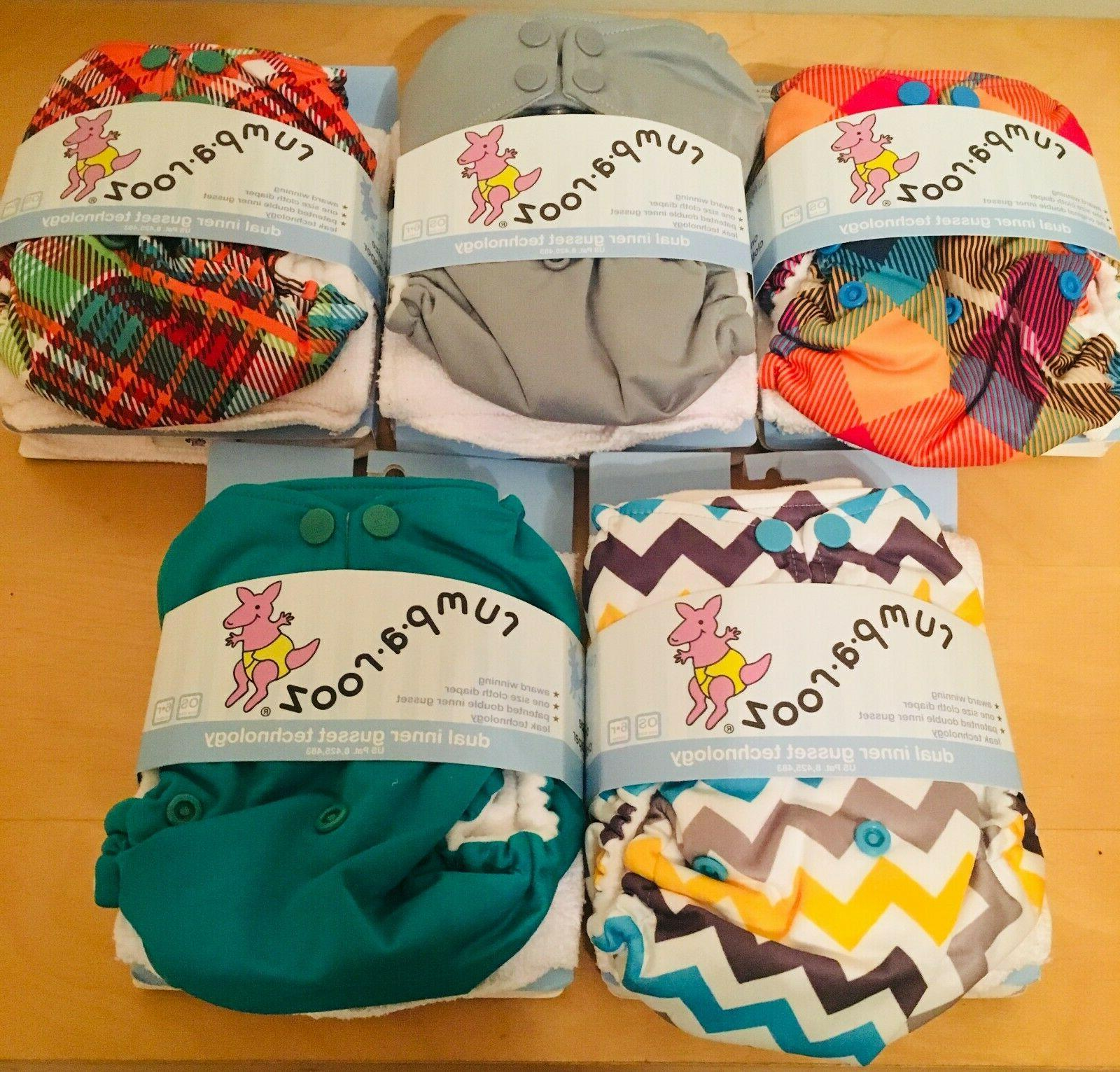 one size cloth pocket diapers set of