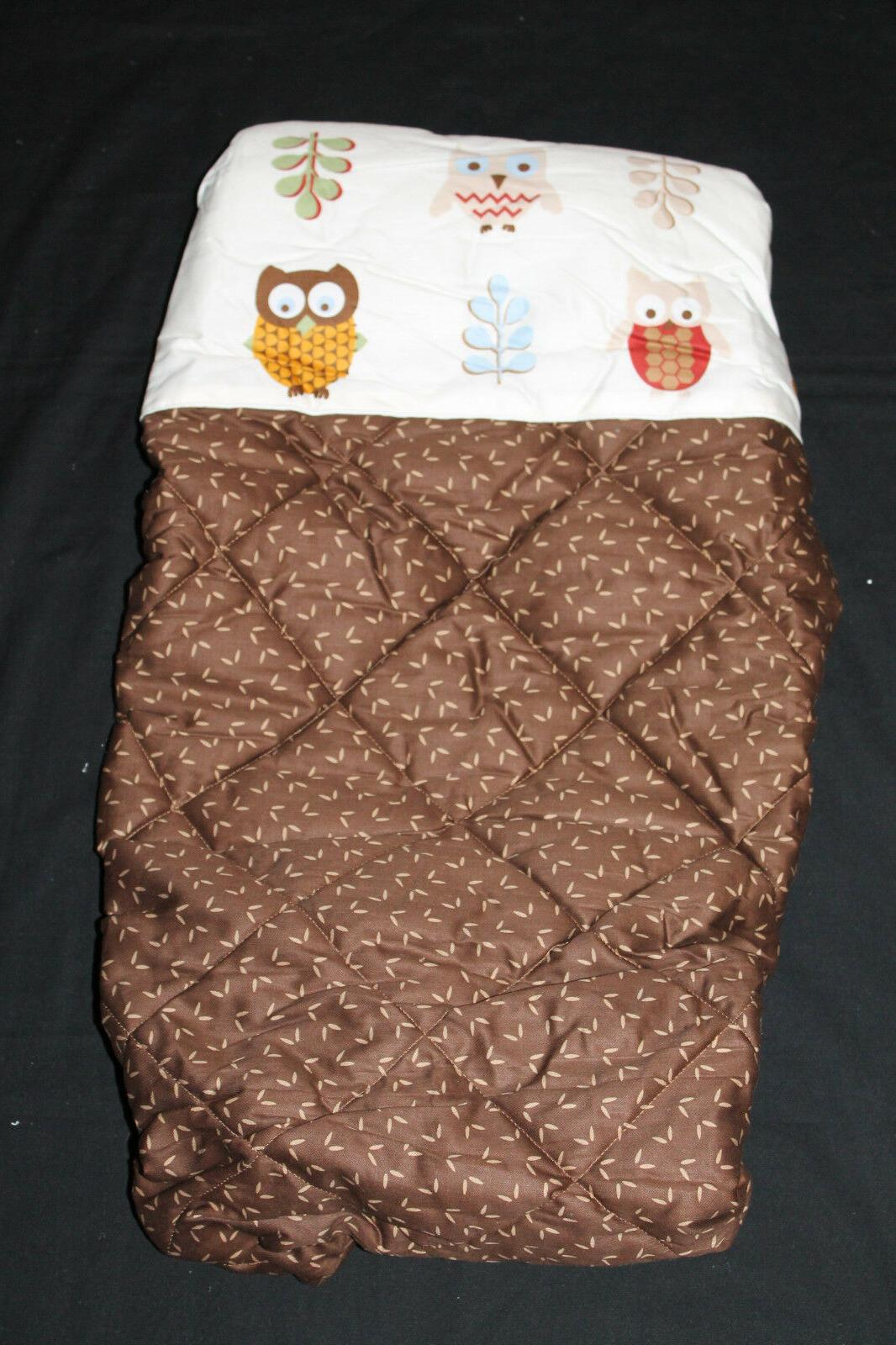owl changing pad cover brown nwot 443
