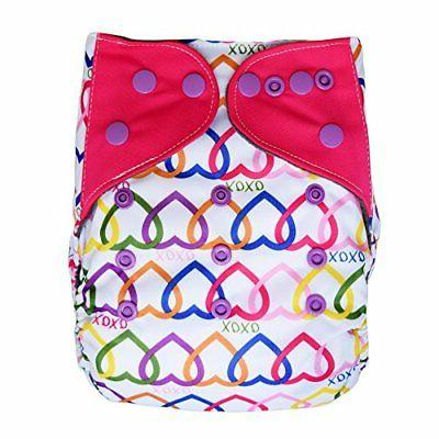 Pocket Cloth Diaper Stay-Dry Charcoal Bamboo, One Size 10-35