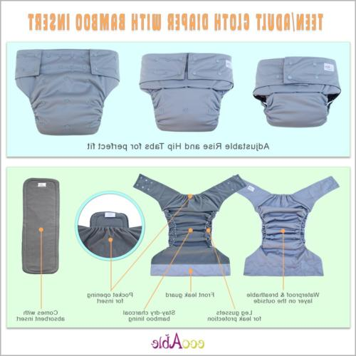 EcoAble Teen & Incontinence Cloth Charcoal Insert Pad,