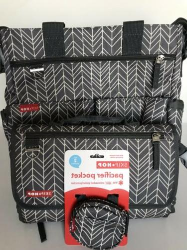 signature duo feather diaper bag pronto changing