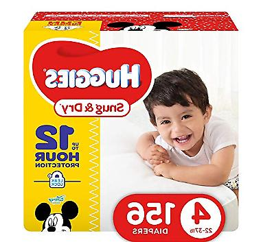HUGGIES Snug Dry Diapers, Size 4, 156 Count . FAST SHIPPING