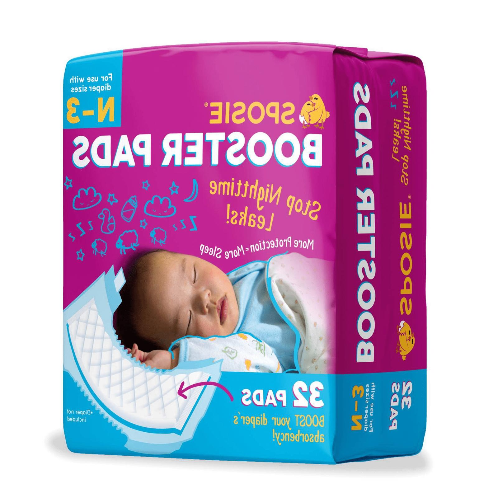 sposie overnight baby diaper booster pads doublers