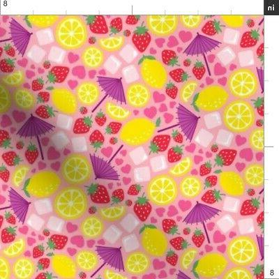 Small Strawberry Fabric by Spoonflower BTY