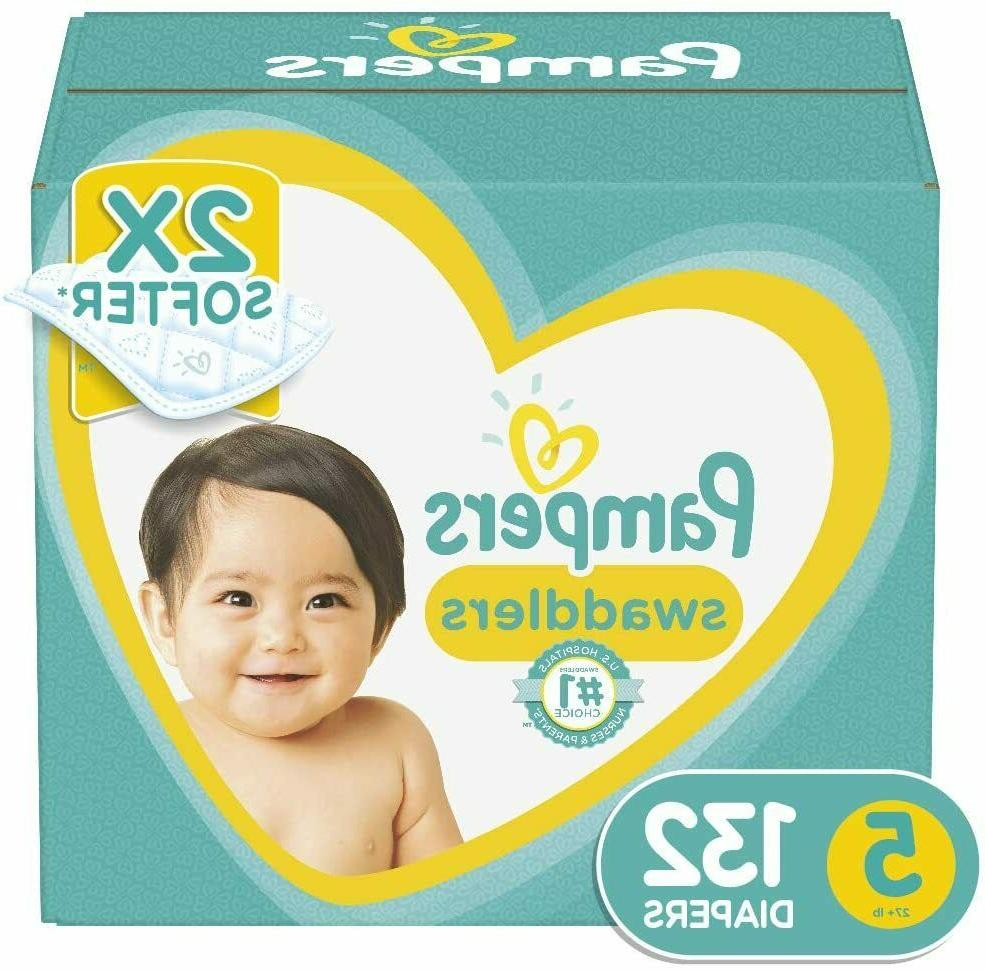 Pampers Swaddlers Disposable Baby Diapers Size 5  132 Count