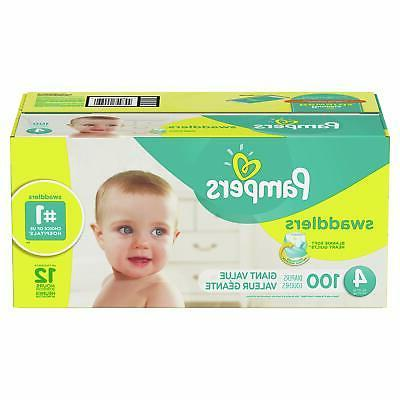 swaddlers diapers size 4 100 count