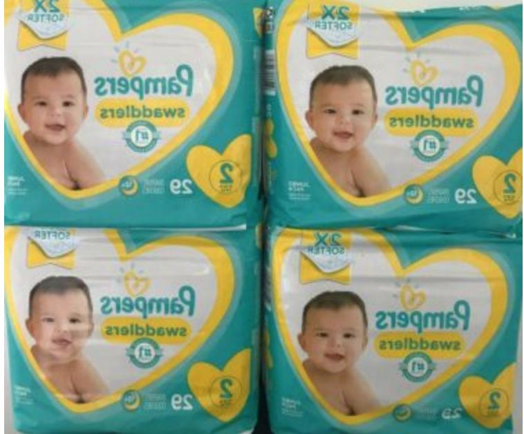 swaddlers size 2 box of 116 diapers