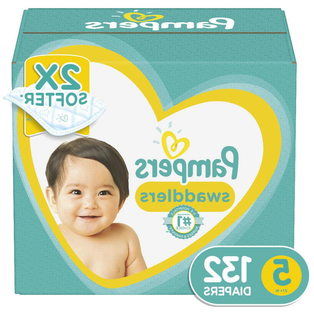 swaddlers soft and absorbent diapers size 5