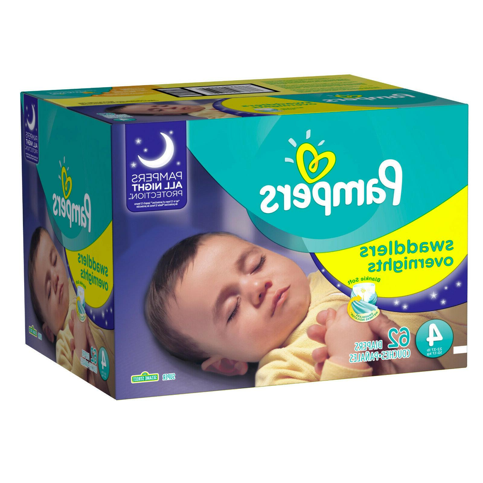 swaddlers soft and absorbent overnights diapers size