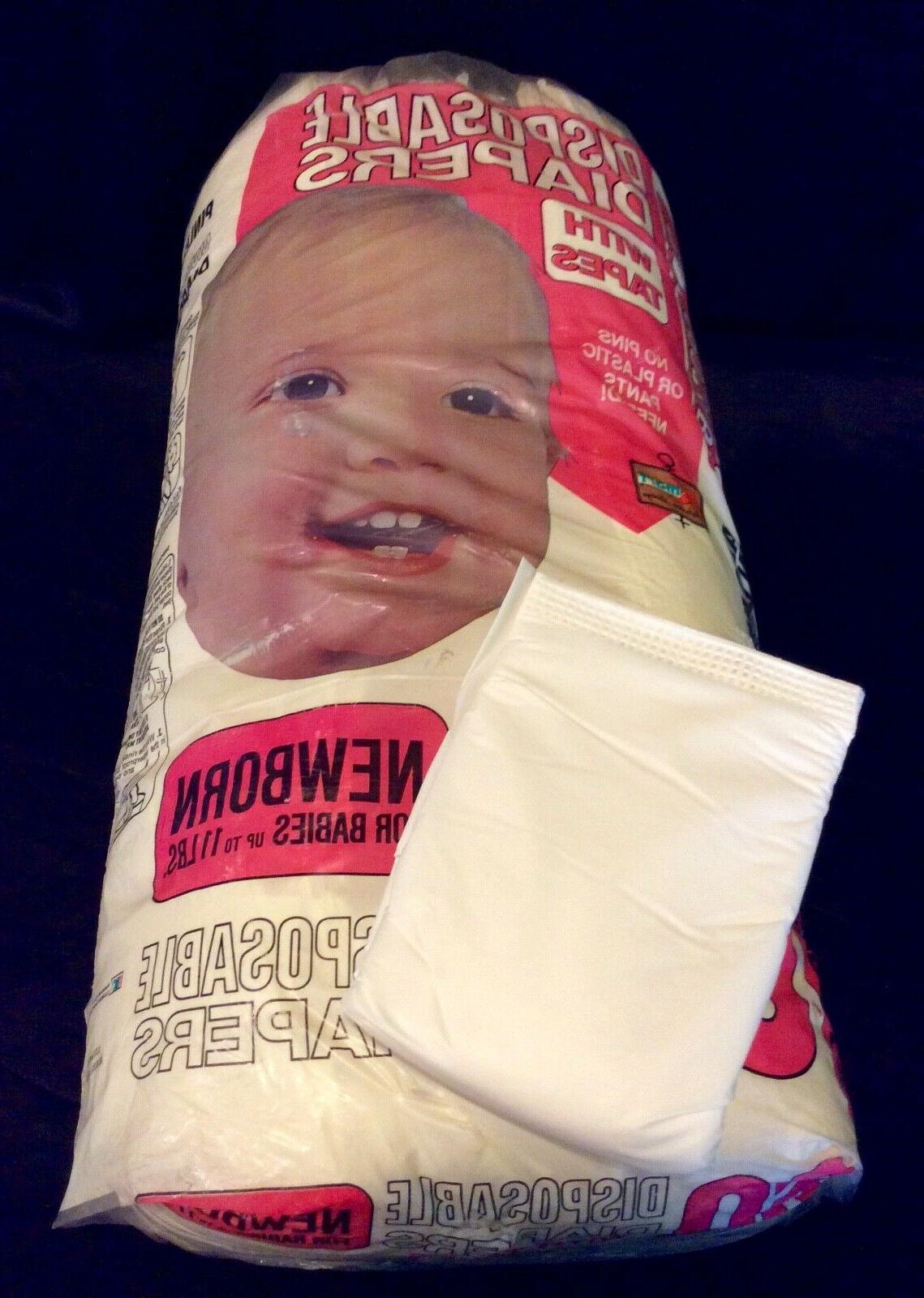 vintage brand disposable baby diaper w tapes
