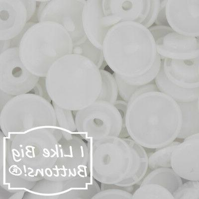 white plastic resin snaps crafts baby cloth