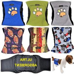 LEAK PROOF Male Dog Diapers Belly Band Wrap Washable ULTRA A