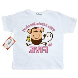 Inktastic Little Monkey 5th Birthday Toddler T-Shirt Girls J