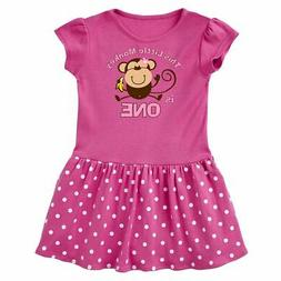 Inktastic Little Monkey Girl 1st Birthday Infant Dress Girls