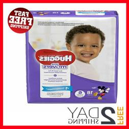 HUGGIES LITTLE MOVERS Diapers, Size 6 , 18 Ct., JUMBO PACK (