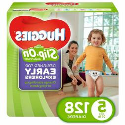 HUGGIES Little Movers Slip On Diaper Pants, Size 5, 128 Coun